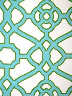 OD Pavilian Fretwork Jade housefabric.com  $22.00