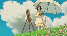 """Pin for Later: These 22 Inspiring Miyazaki Quotes Will Move You to Tears """"Inspiration unlocks the future."""" — The Wind Rises Cartoon Kunst, Anime Kunst, Cartoon Art, Anime Gifs, Anime Art, Manga Anime, Studio Ghibli Art, Studio Ghibli Movies, Aesthetic Art"""
