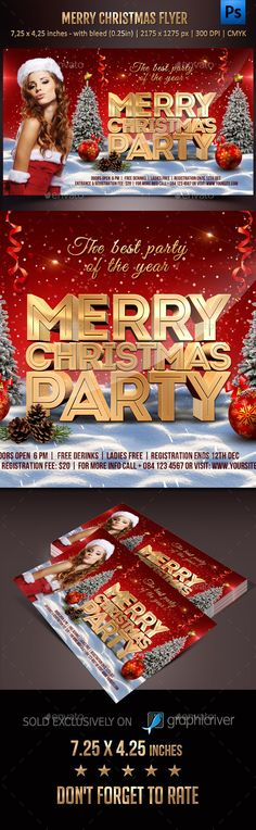 Christmas Party Flyer Template PSD #design #xmas Download: http://graphicriver.net/item/christmas-party-flyer/13485274?ref=ksioks