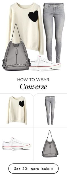 """When I'm Too Lazy"" by spellrox on Polyvore featuring moda, WithChic i Converse"