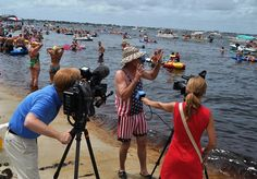 22 Annual Charlotte Harbor Freedom Swim, Punta Gorda, Fla., July 4, 2013 by JenniferHuber, via Flickr http://www.solotravelgirl.com/they-came-they-swam-they-bobbled-across-the-peace-river-for-charlotte-harbor-freedom-swim/