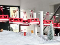 Tutoriel DIY: Fabriquer un calendrier de l'Avent en forme de téléphérique via DaWanda.com