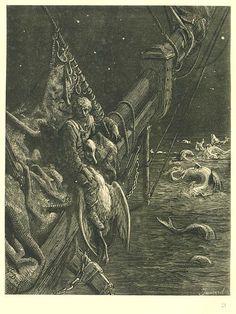 Gustav Dore illustration for Rime of the Ancient Mariner by Samuel Taylor Coleridge