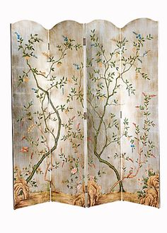 Hand-painted Screen.  Wouldn't this be lovely in your home?