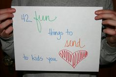 42 FUN THINGS to SEND THROUGH the MAIL to KIDS you love!
