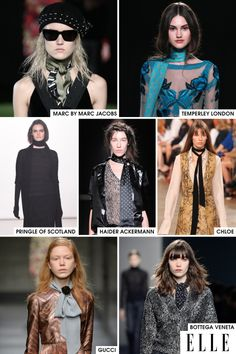 A residual effect of the boho trend, which is still holding strong, the skinny scarf is making a play for the must-have accessory of the season. Worn with everything from a casual sweater dress to a full-on gown, the skinny scarf is the one item that can transition very easily between all outfit occasions.