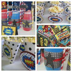 superhero birthday party | Super Hero Birthday Party Ideas - Dimple Prints