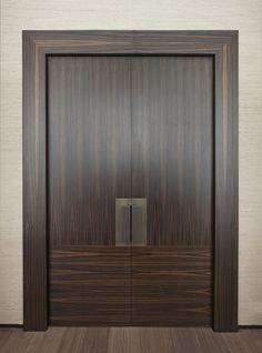 Modern Entrance Door, Main Entrance Door Design, Wooden Main Door Design, Double Door Design, Sliding Door Design, Door Gate Design, Door Design Interior, Modern Door, Porte Design