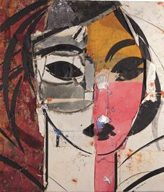 Manolo Valdes (Spain b. 1942) Retrato de Mujer (2003)oil and fabric collage on canvas 150 x 130 cm