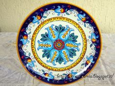 Wall plate #ceramic , #handpainted , #Italy