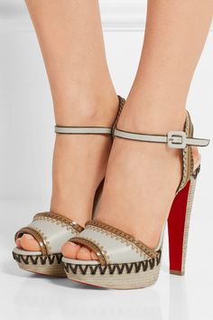 Christian Louboutin | Trepi High 140 embellished leather sandals…