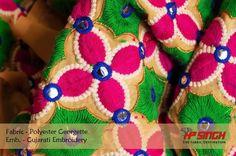 Beautiful Embroidered fabric perfect for the festive season!