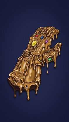 Melted Infinity Gauntlet Avengers IPhone Wallpaper - IPhone Wallpapers