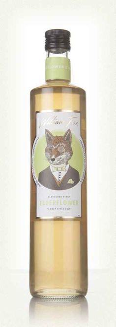 William Fox Elderflower Syrup Cocktail Syrups, Cocktails, Farm Logo, Elderflower, Wine Label, Whiskey Bottle, Gin, Tasty, Ideas