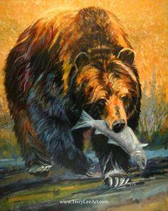 grizzly bear painting | Grizzly Bear Paintings American Bear Paintings - Bears, Bears and More ...