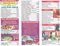 menu - Puerto Rico