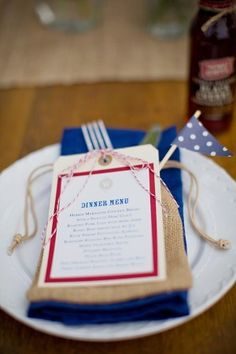 Oh So Beautiful Paper: Wedding Stationery Inspiration: Fourth of July