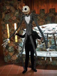 Took my Jack Skellington puppet out trick or treating last night and he was a big hit with the kids (and adults) Christmas Stage Design, Church Stage Design, Fall Halloween, Halloween Costumes, Weird Costumes, Halloween Ideas, Skeleton Puppet, Puppetry Theatre, Puppet Costume