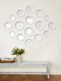 Displayed together, simple Ikea plates take on the air of heirlooms in this California home.