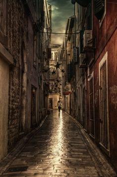 Cobblestone Street, Zadar, Croatia photo via esther
