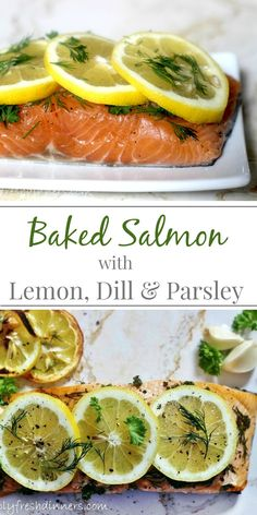 Roasted salmon with crispy broccoli and quinoa roasted salmon baked salmon with lemon dill parsley bake 5 oz fillet 425 degrees for 9 minutes ccuart Image collections