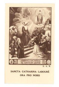 St Catherine Laboure   saint catherine labouré more estampas antigua catherine labouré ...