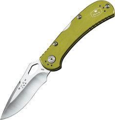 #BuckKnives: Spitfire, Green Aluminum, Plain Blade #PocketKnife  #722GRS1    #Sales $30.15 In Stock