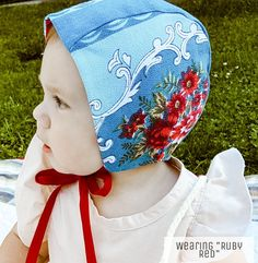 Brimless Baby Bonnet- Ruby Red- fall 2019 bonnets