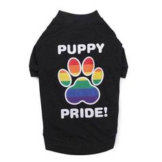 Let your puppy show their pride too during Pride Week Celebrations with this Puppy Pride T Shirt for dog.  Gay Pride 2015