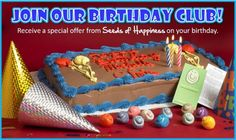 Birthday Club special offer from Seeds of Happiness...check it out and sign up!
