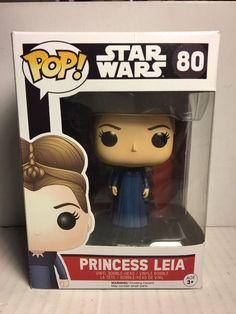 Funko POP! STAR WARS The Force Awakens PRINCESS LEIA 80 Vinyl Figure Box Damage  | eBay