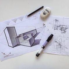 Fantastic study by @olgaart888  #ArchiSketcher