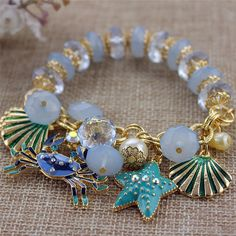 ENZE Fashion bracelet 2014 New fashion and pure and fresh quietly elegant bracelet 130630 contracted crabs many elements