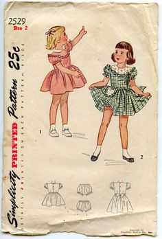1940s Simplicity 2529 Vintage Sewing Pattern by GreyDogVintage