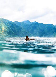 Julie Ter • surf4living:   Frankie in Tahiti  Ph: Billabong