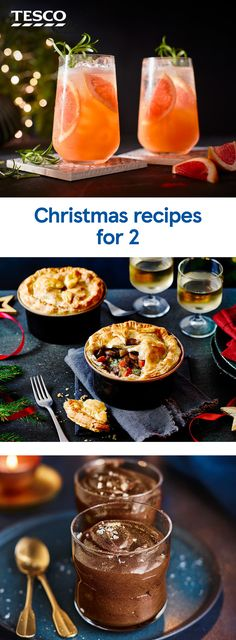 Tesco Christmas, Christmas Cocktails, Christmas Recipes, Recipe For 2, Tesco Real Food, Mince Pies, Easy Cocktails, Christmas Pudding, Cooking Turkey