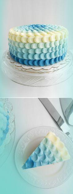 Beautiful Blue Ombre Cake | Waterfall Creative