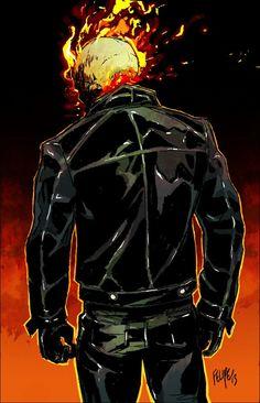 Marvel Super Hero Squad Ghost Rider variante avec translucide flammes sur tête