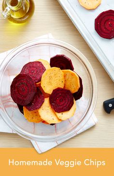 Get these 3 easy recipes for homemade baked kale, sweet potato and beet chips and satisfy that salty craving without reaching for greasy potato chips.