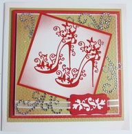 'High Heel Glam' Top Winter Karten, Tattered Lace Cards, Birthday Cards For Women, Spellbinders Cards, Dress Card, Embossed Cards, Beautiful Handmade Cards, Winter Cards, Folded Cards