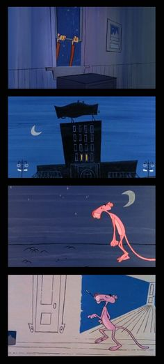 Pink Panther, 1963 y. Backgrounds by Tom O'Loughlin