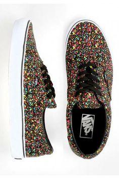 #Vans Era Shoes - (Overspray) Black $50.00