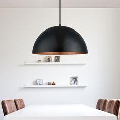Eglo Gaetano Hanglamp Ø 53 cm - Zwart / Koper