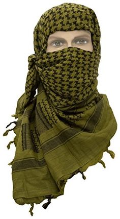 SHEMAGH KEFFIEH olive et noir CHECHE US ARMY MARQUE MILTEC - FOULARD PALESTINIEN - AIRSOFT / PAINTBALL / OUTDOOR