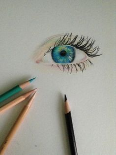 I didn't have colored pencils back when I attempted this.. With crayons it doesn't have the same effect...