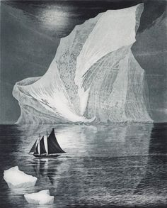 I just checked out BLACK ICE: David Blackwood prints of Newfoundland at the AGO, and you should too. Blackwood, a master printmaker, depicts life in. Intaglio Printmaking, Canadian Artists, Vladimir Kush, Newfoundland, Landscape Paintings, Concept Art, Art Photography, Art Gallery, Illustration Art