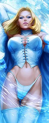 Emma Frost - Stanley Lau - one of those designs that were obviously done by a heterosexual male
