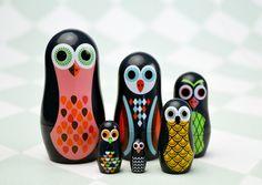 Ingela Arrhenius Mini Poupées Russes - Owl - Omm Design, Mes Habits Chéris - kidstore Récréatif - Décoration enfant