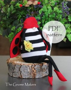 LADYBUG PDF Patterns Garden Decor Kitchen Decor Gnome | Etsy