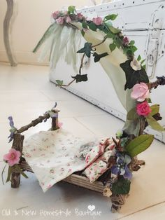 Homemade fairy bed #fairybed #fairygarden